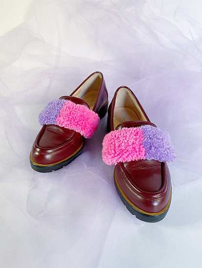 Pink/Purple Tufted Loafer- Size 6.5