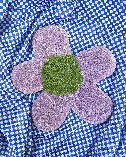 Coffee Table Rug- Lavender/Green Flower