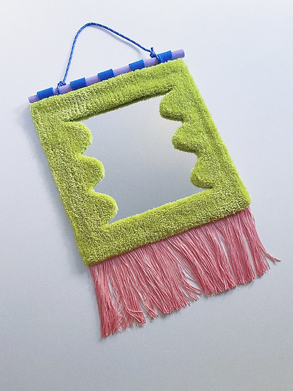 Wavy Fringe Mirror- GREEN