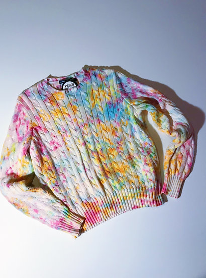 Tie Dyed Funfetti Sweater- Upcycled