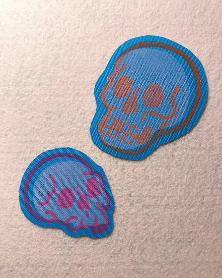 Skull Iron-on Patch SET