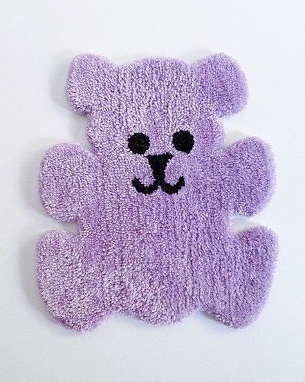 90s Fuzzy Bear Rug- LAVENDER