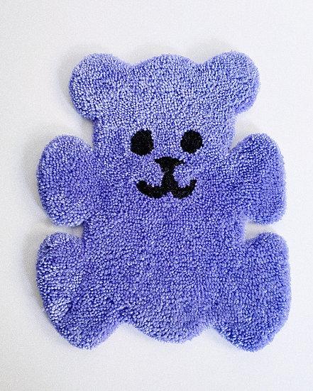 90s Fuzzy Bear Rug- BLUE