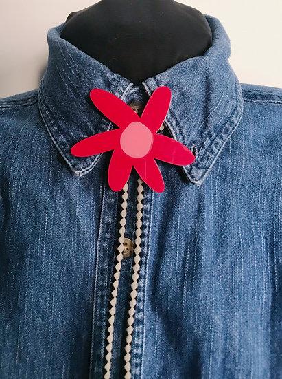 Red Daisy Bolo Tie