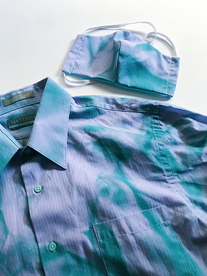 Upcycled Crumpled Color Set- Teal/Purple- M/L