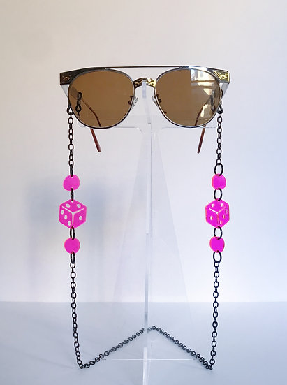 Hot Pink Dice Sunny Chain