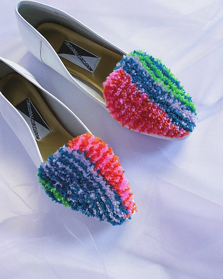 Multi Color Tufted Loafers- Size 10