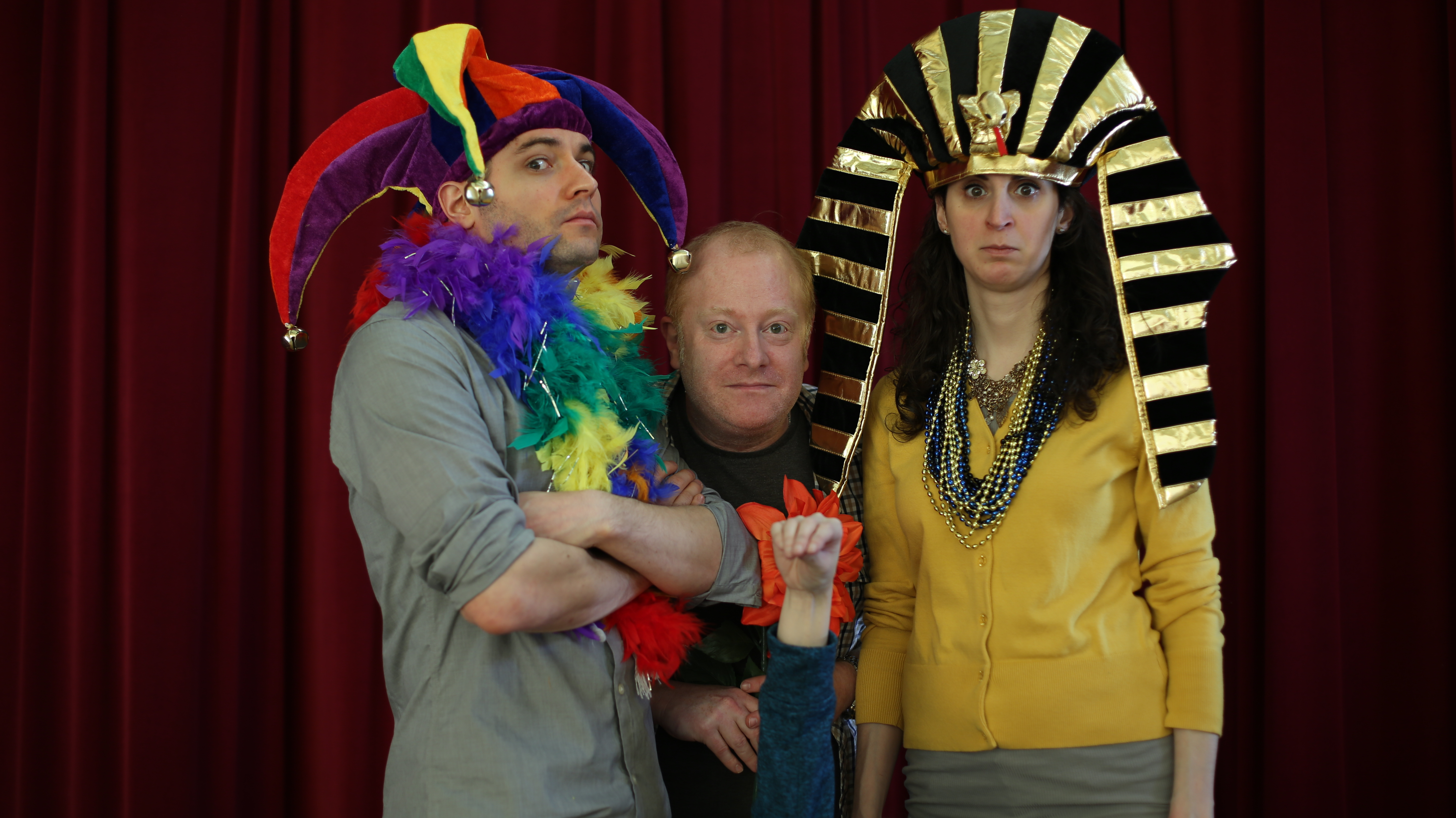 Marcus, Mitch, Tracey & Puppet Hand