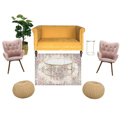 MODERN BOHO GLAM lounge
