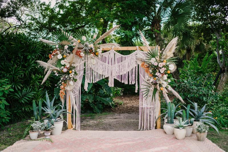 Boho wedding rentals Miami