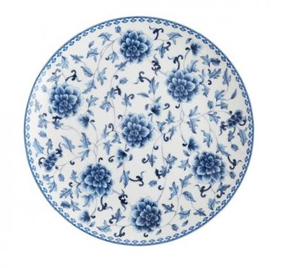 DINNER PLATE blue china