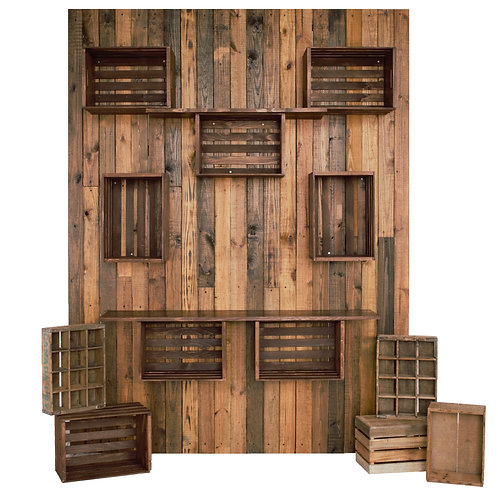 DRK WOOD crate wall plain