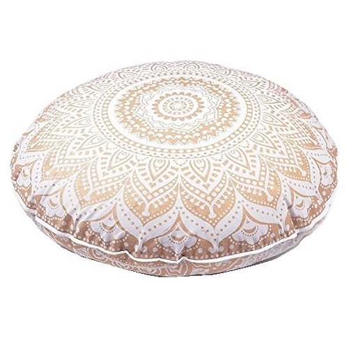 GOLD MANDALA floor pillow