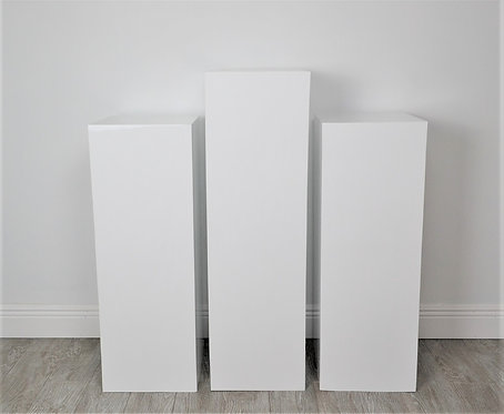 3 White Plinths