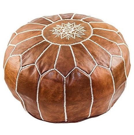 BROWN pouf
