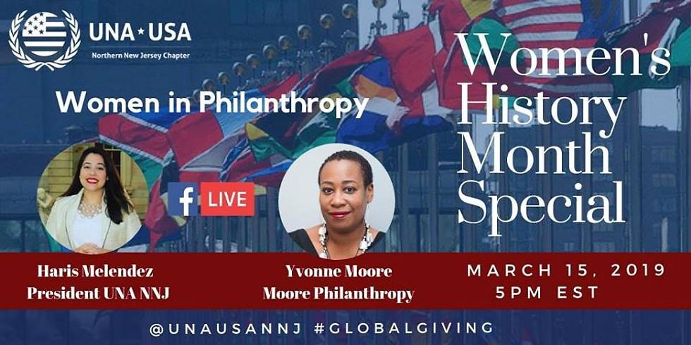 Facebook Live:  Women In Philanthropy