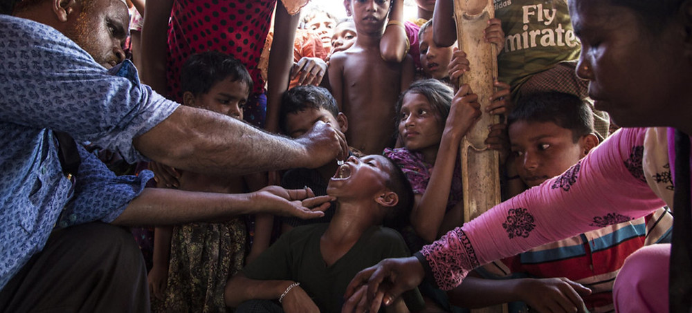 UNICEF/Roger Lemoyne | UNICEF supplies vaccines for a massive cholera vaccination campaign targeting all Rohingya refugees that have arrived in Bangladesh.