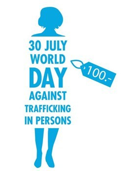 Logo of the World Day against trafficking of persons - July 30th