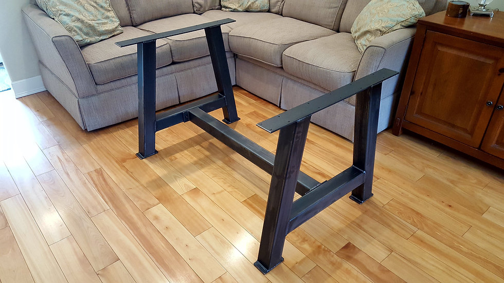 Chunky A Frame Counter Height Legs with Cross Bar