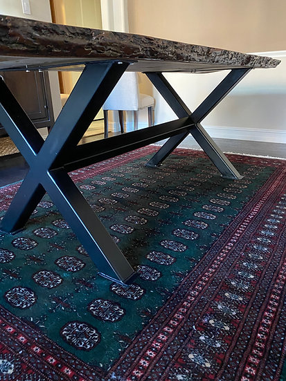X Dining Height Legs with Cross Bar
