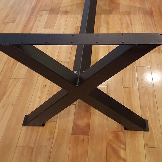 Chunky X Dining Height Legs with Cross Bar
