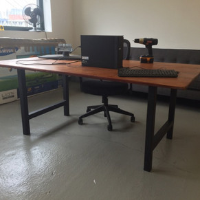 H frame table legs for a desk