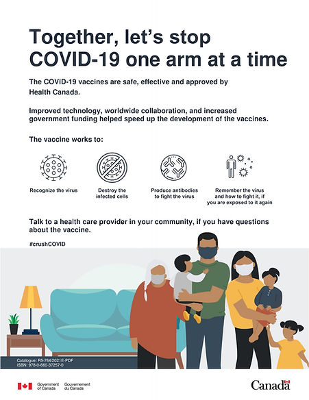 Poster Stop COVID-19 one arm at a time-1