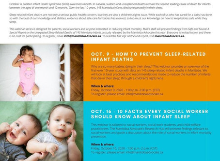 SACRED BABIES: Indigenous-led Models for Safe Sleep