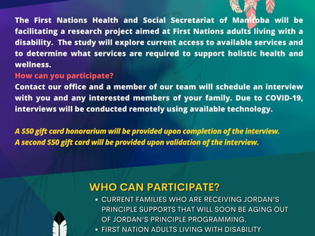 SEEKING PARTICIPANTS: Supporting the Gifts of First Nation Adults with Disabilities