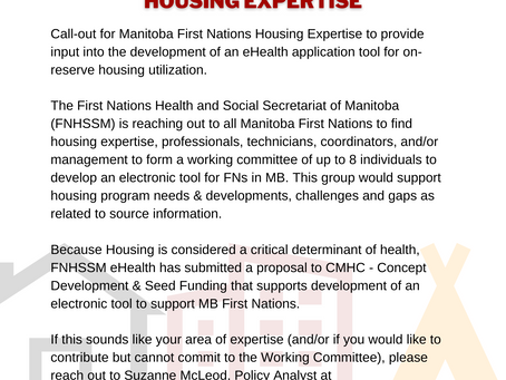CALL FOR MB FIRST NATIONS HOUSING EXPERTISE