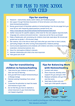 If you plan to home school your child[20