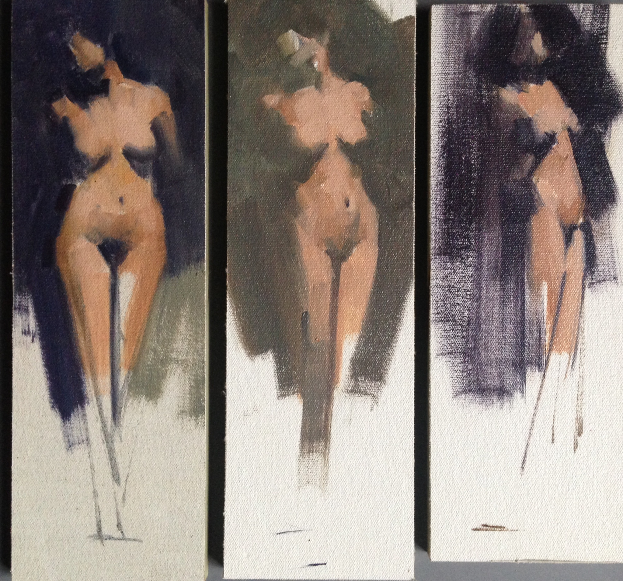 Three views of a pose, Sold