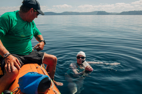 40km Swim across lake Taupo