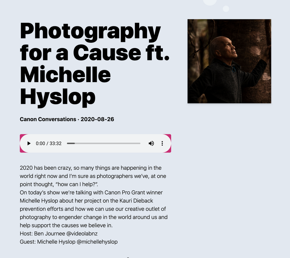 PHOTOGRAPHY FOR A CAUSE PODCAST