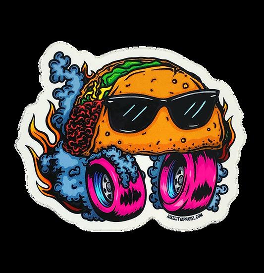 Taco Derby Sticker