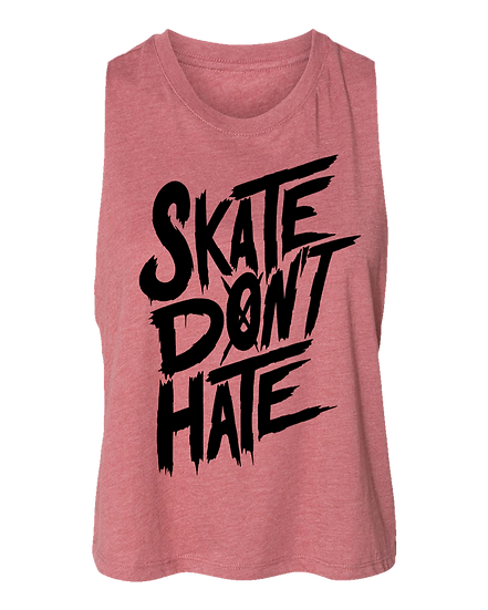 Skate Don't Hate Crop Top