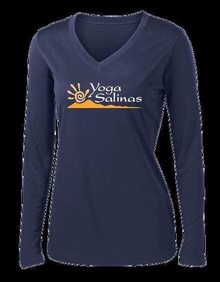 Yoga Salinas Ladies Long Sleve V-Neck