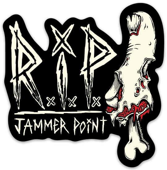 R.I.P Jammer Point Sticker