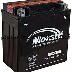 Аккумулятор для мототехники Moratti YTX16-BS-1 14Ач пр - фото 3