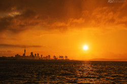 Sunset in Auckland