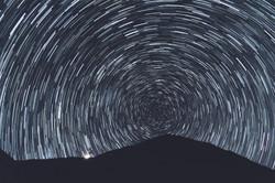 hypnotic star trails
