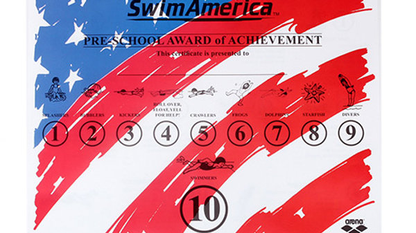 SwimAmerica Preschool Awards Certificate (100)