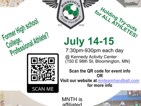 MNTH holding open try-outs to all athletes in July!