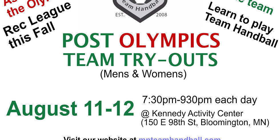 Post Olympics Team Try-outs
