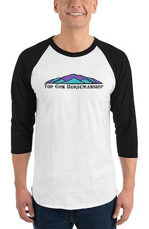 Top Gun Horsemanship 3/4 sleeve raglan shirt