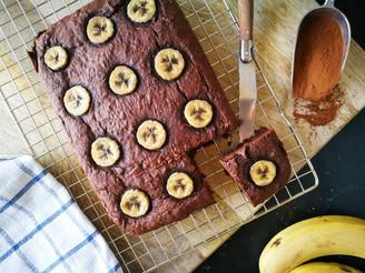 Vegan brownies met banaan