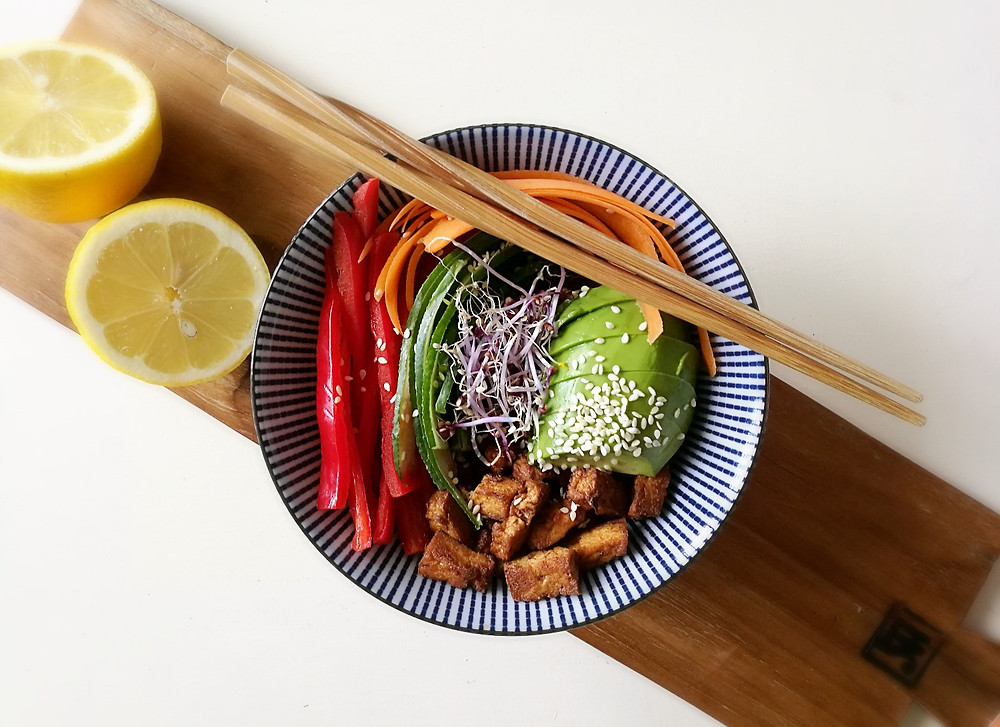 buddha bowl met tofu
