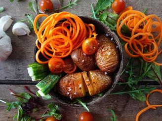 Salade met roodschillige aardappelen