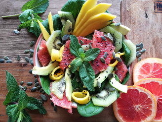 Fruitsalade met munt