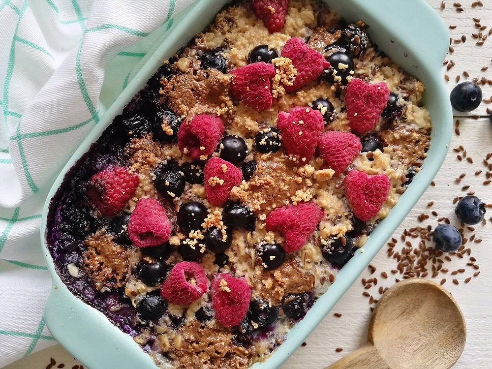 vegan baked oats Nieces